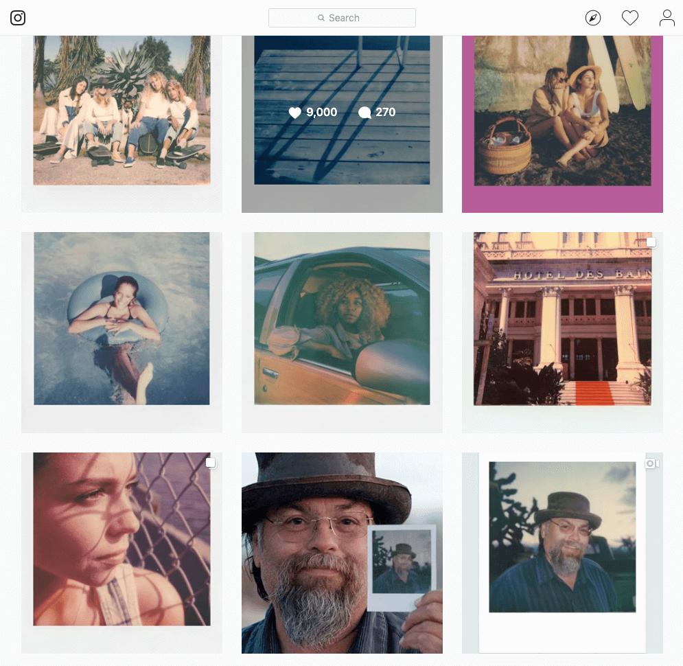 Brand storytelling - polaroid instagram