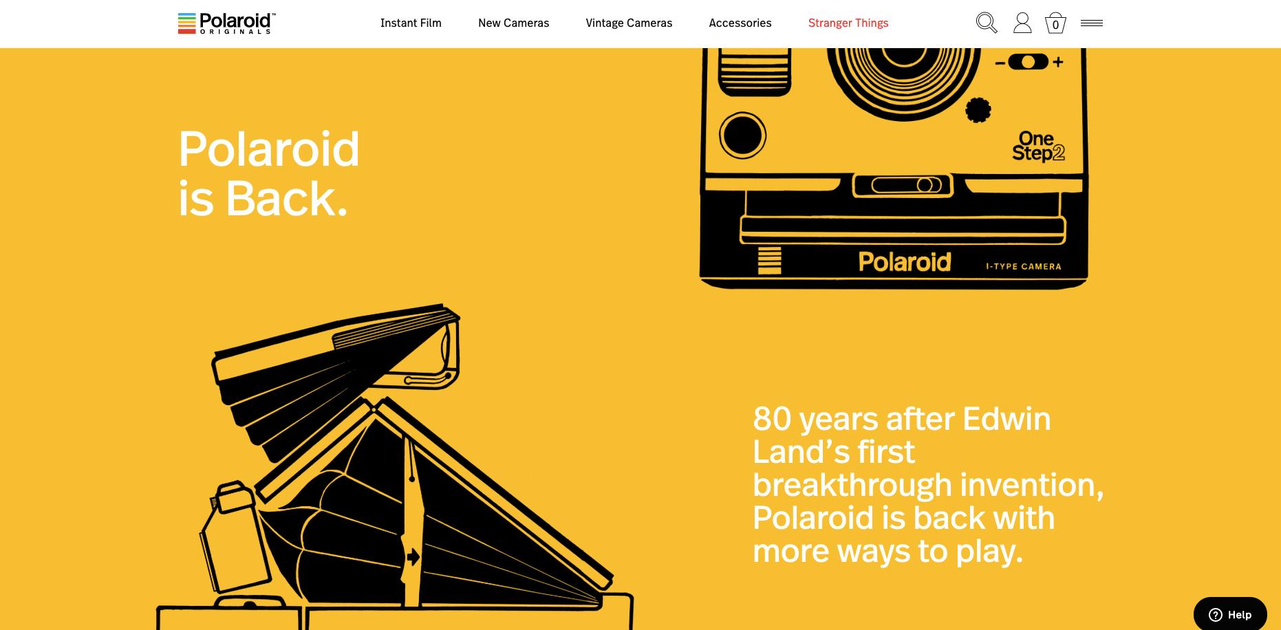 Brand storytelling - polaroids story