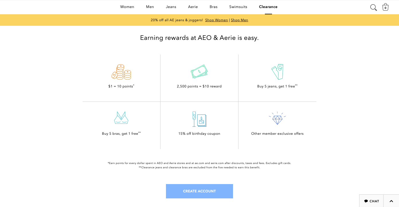 sharing economy - American eagle rewards