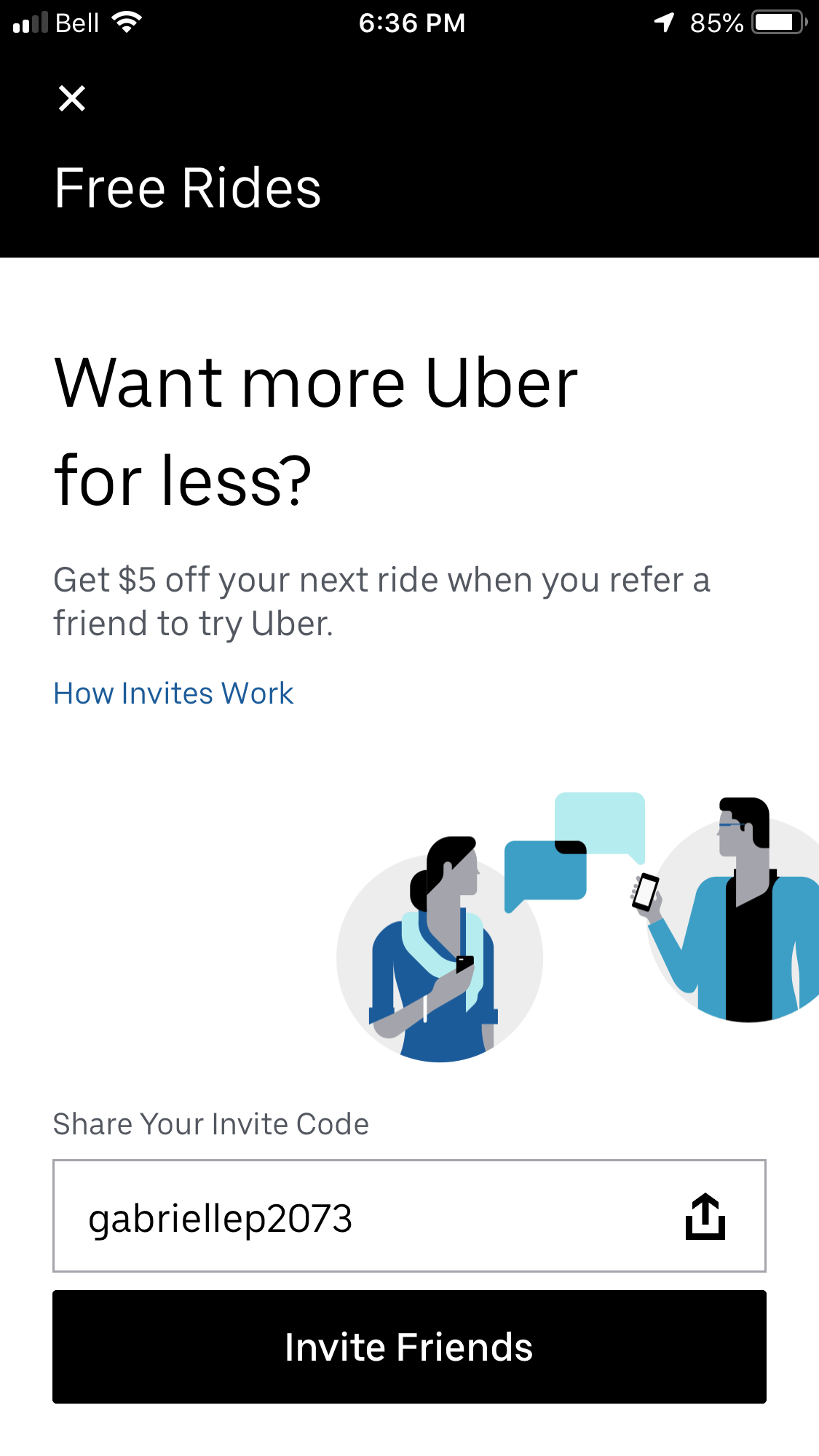 sharing economy - Uber referral