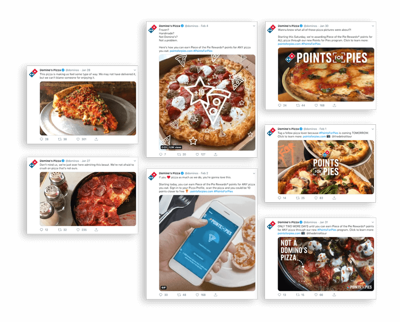 Domino's Points for Pies social content
