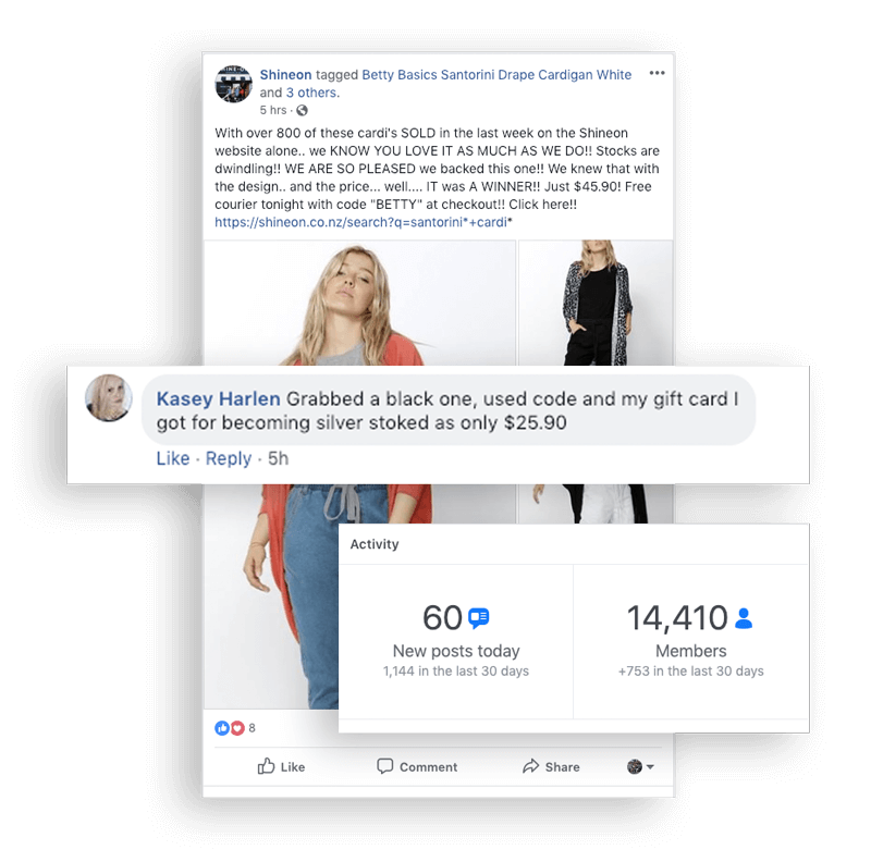 Shine On Rewards Facebook engagement