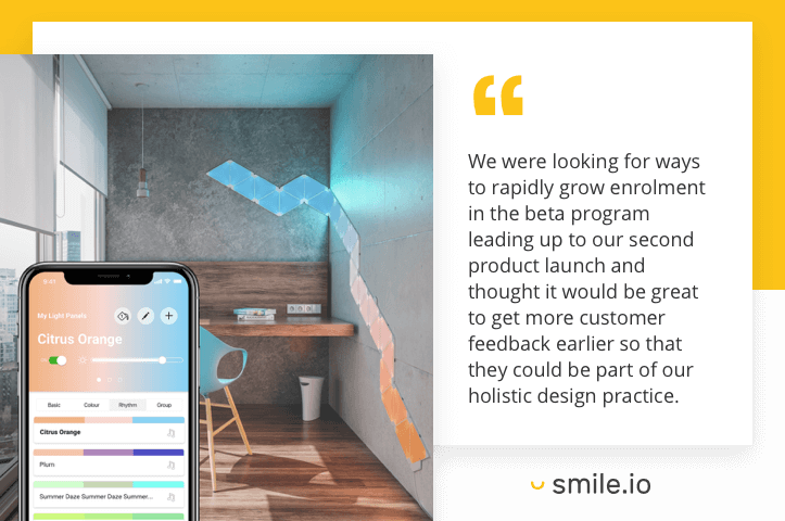 Nanoleaf customer feedback quote 1