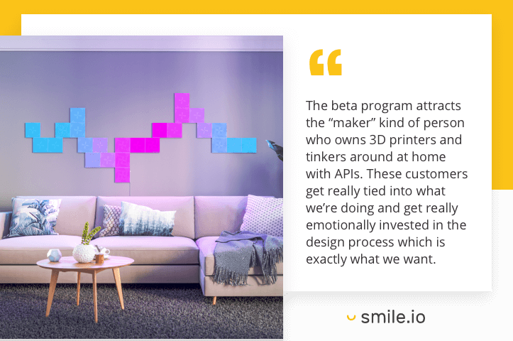 Nanoleaf customer feedback quote 2