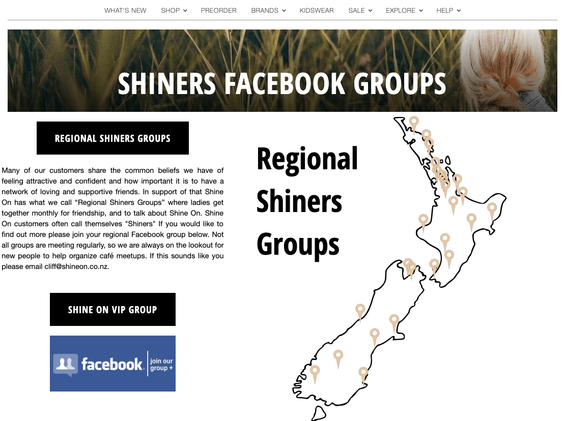 Shine On FB groups