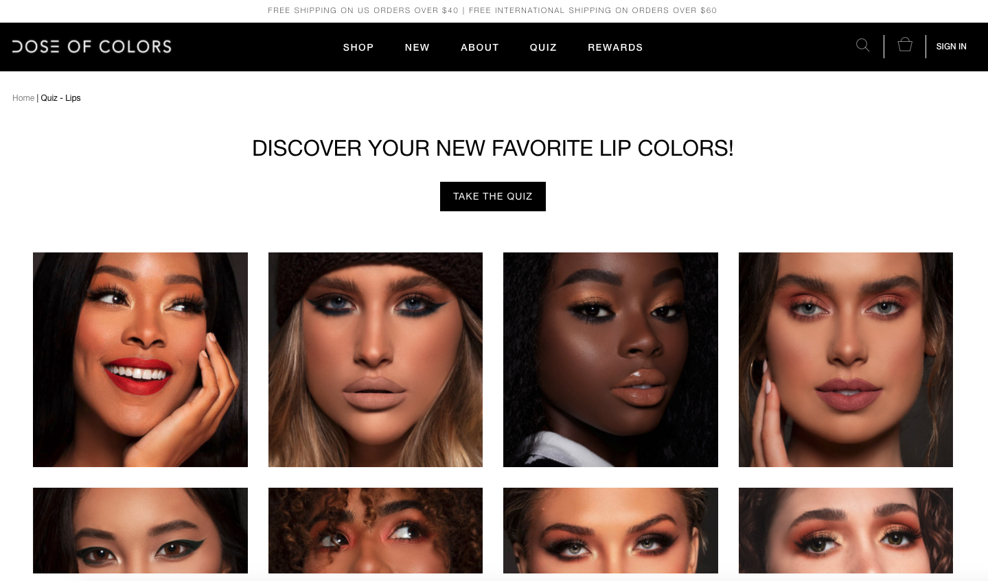 Loyalty in Beauty and Cosmetics - Dose of Color lip color quiz