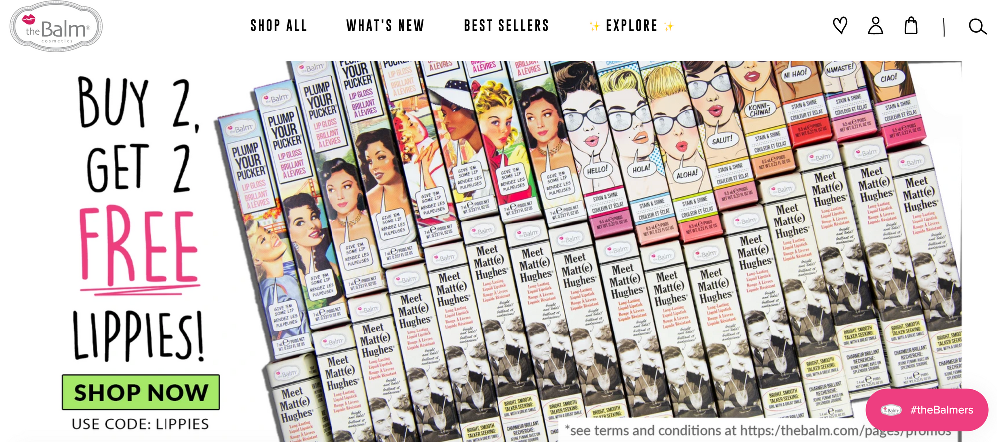 Loyalty in Beauty and Cosmetics - The Balm Cosmetics homepage products