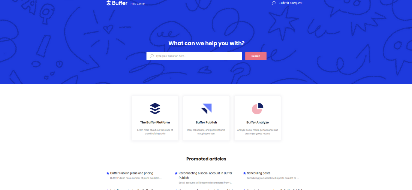 Buffer help centre customer experience