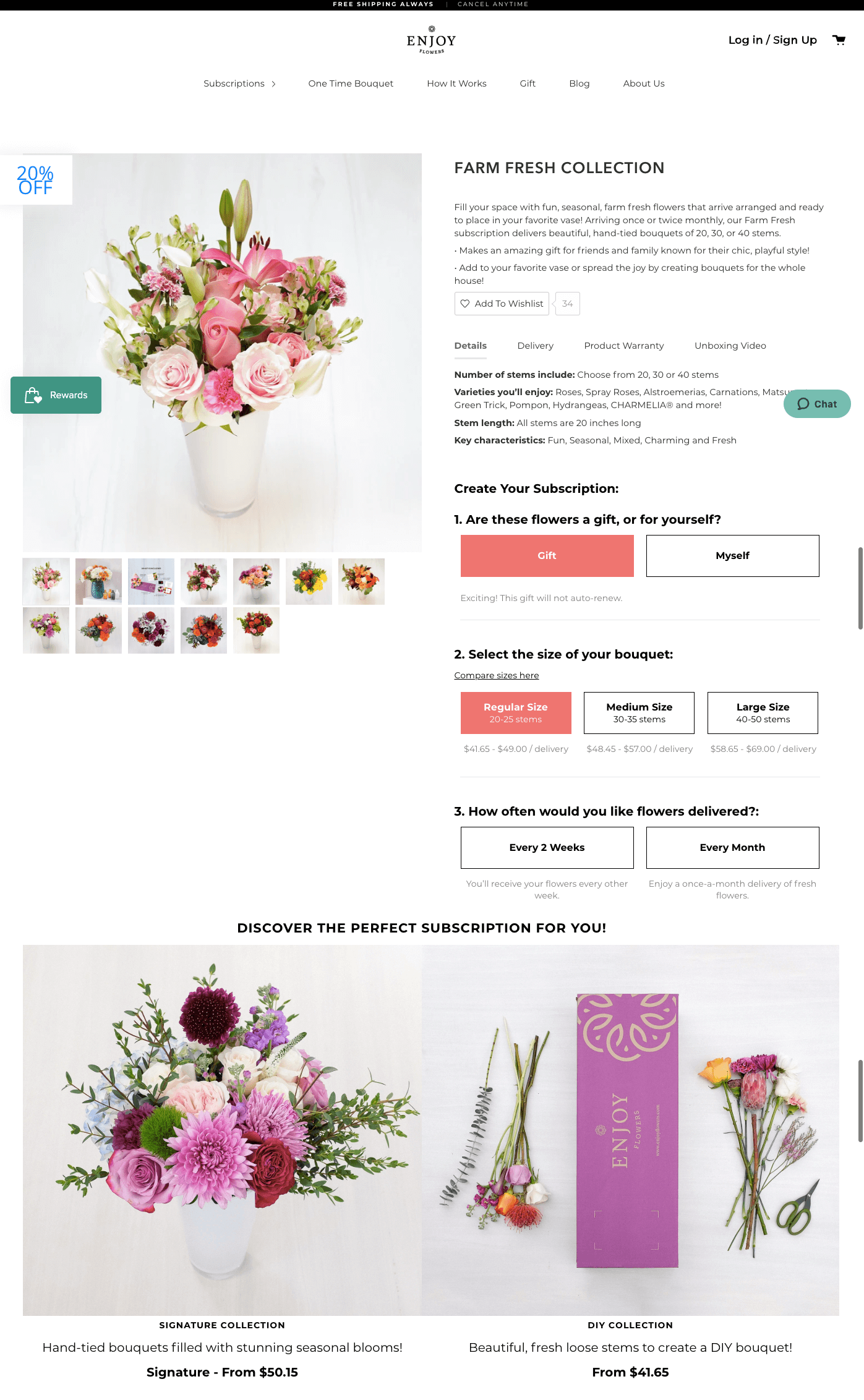 customer retention campaigns - enjoy flowers subscriptions