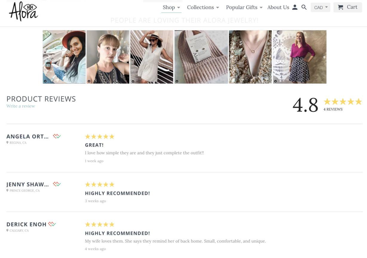 Alora jewelry reviews