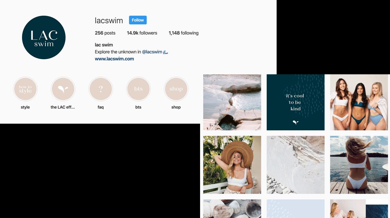 LAC Swim Instagram 2020