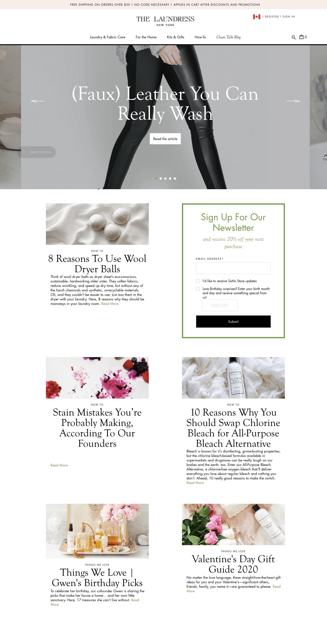 women ecommerce brands - The Laundress Clean Talk Blog