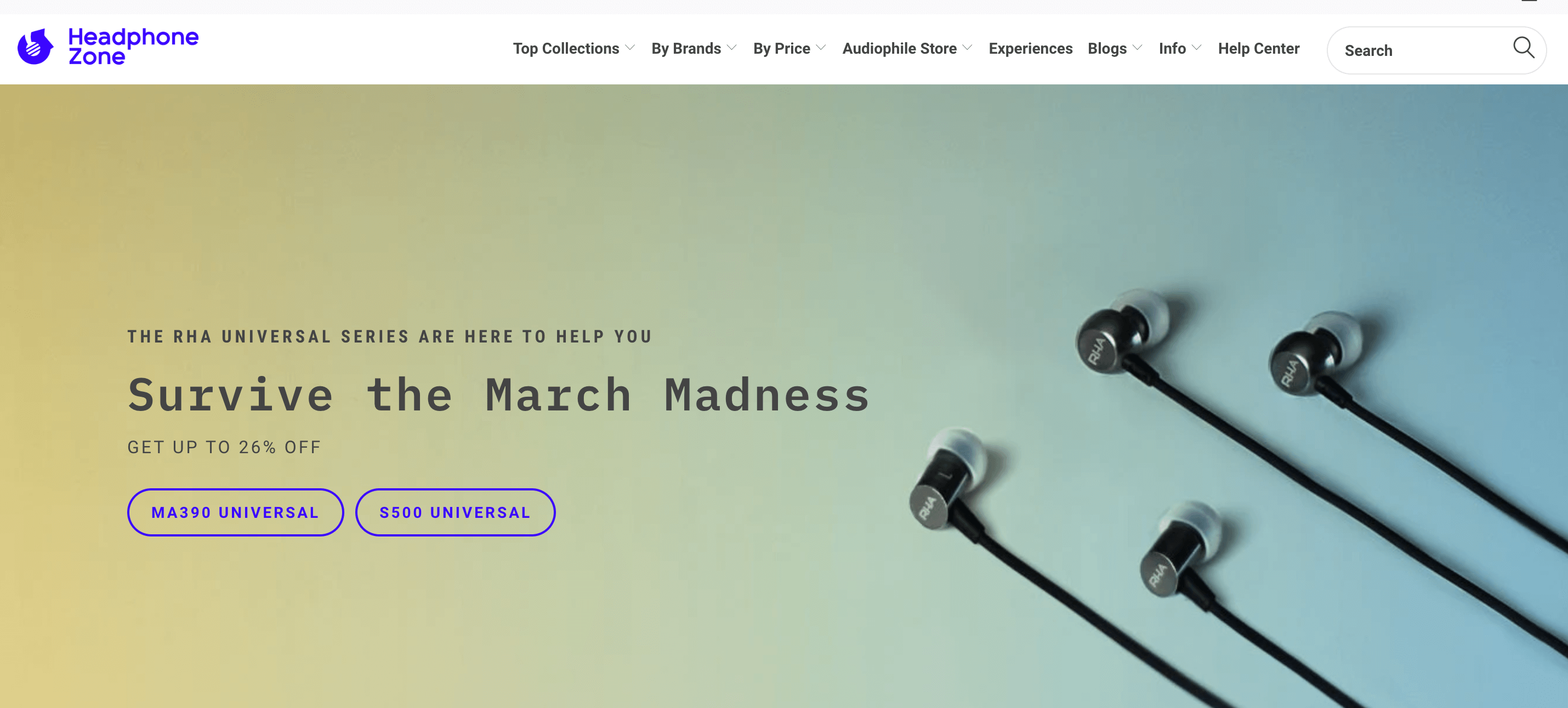 Headphone zone homepage 2020