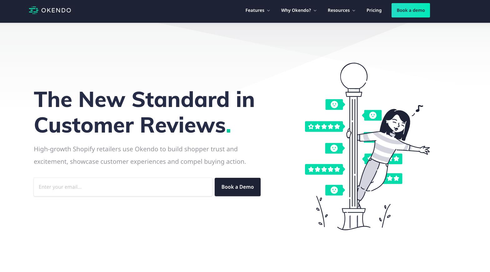 Okendo homepage 2020
