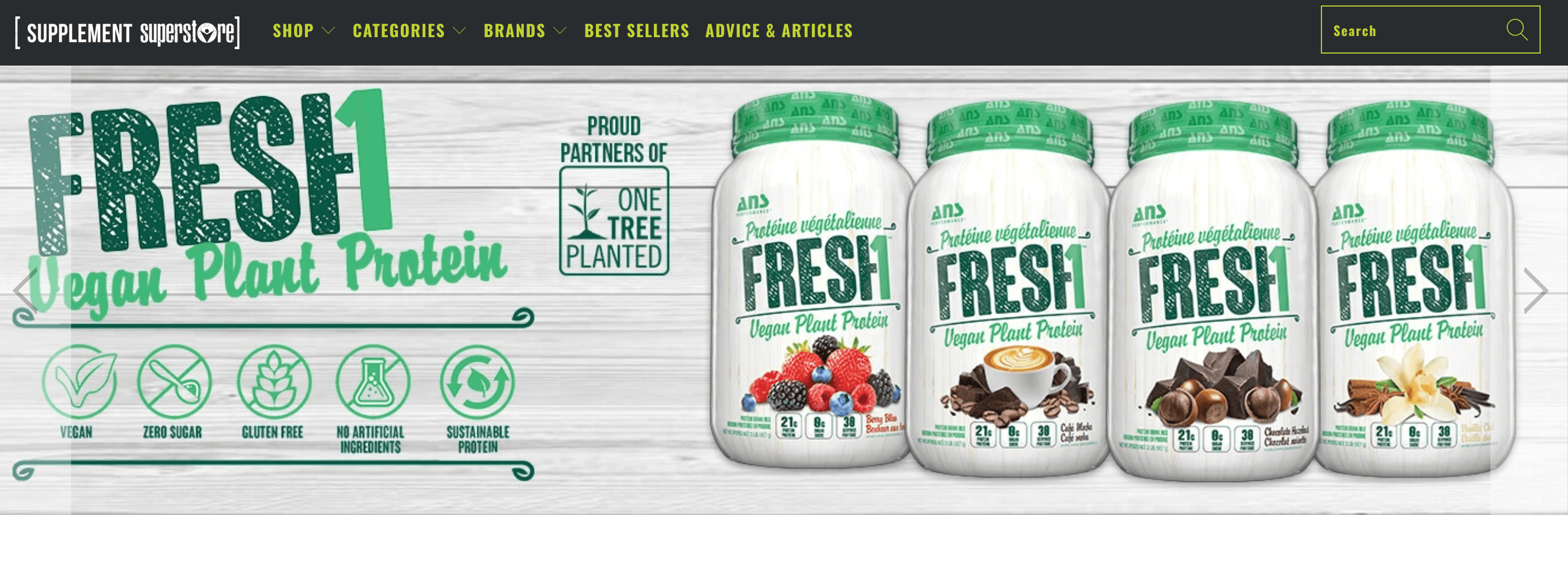 Supplement Superstore homepage 2020