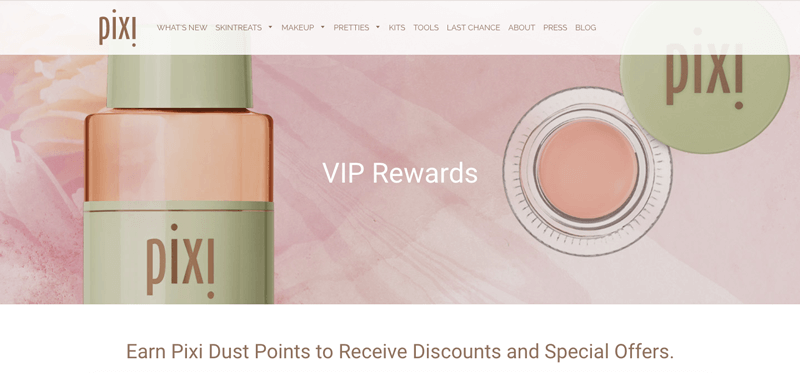 Pixi Beauty VIP rewards banner