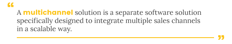 integrate amazon multichannel definition
