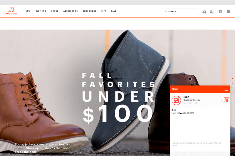 offline and online shoppers jackthreads