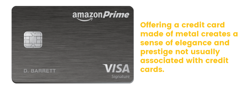 amazon prime credit card metal