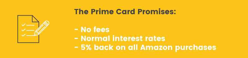 amazon prime credit card on paper