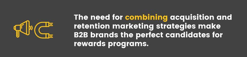 b2b rewards programs combined marketing