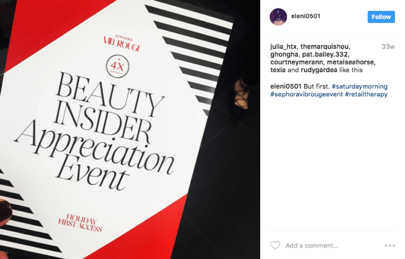 customer segmentation connoisseurs sephora VIB rouge event