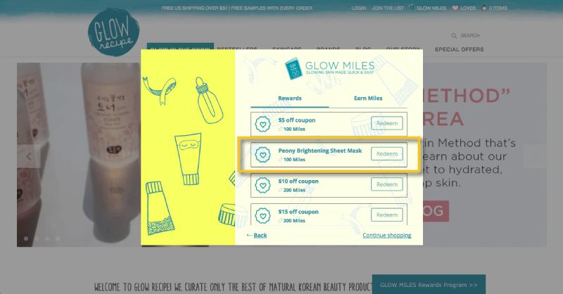 loyalty rewards glow recipe free product