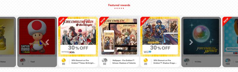 my nintendo featured new rewards