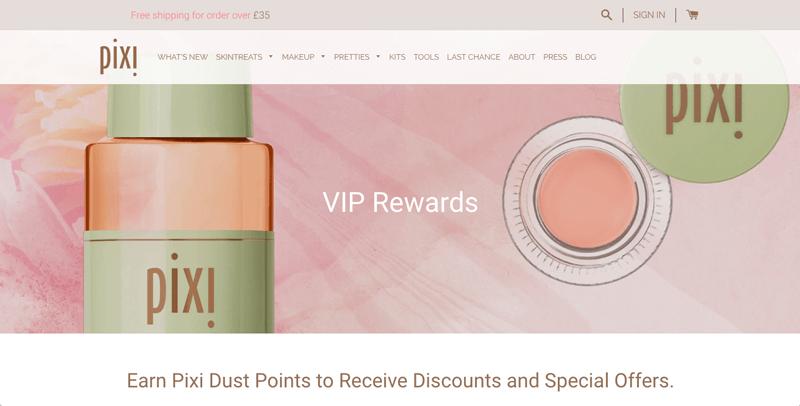 reward points pixi dust