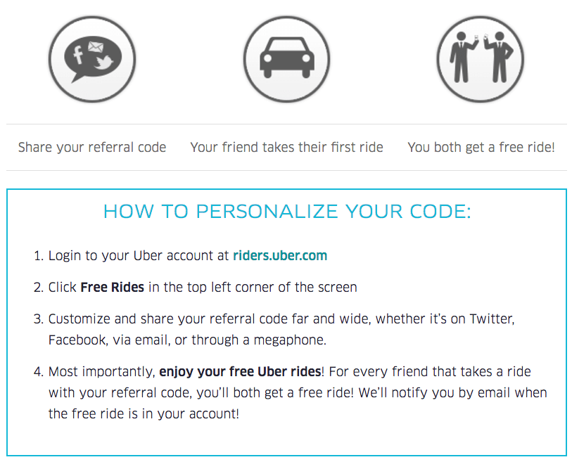 uber's referral program personalized referrals
