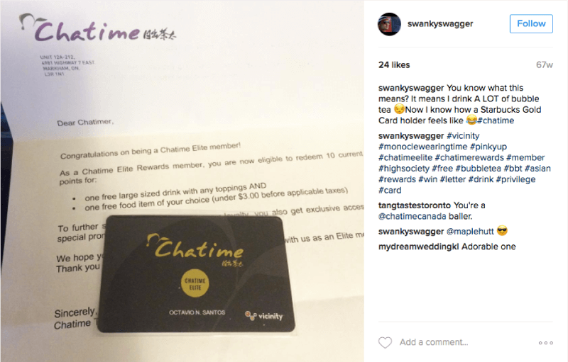 chatime rewards card instagram