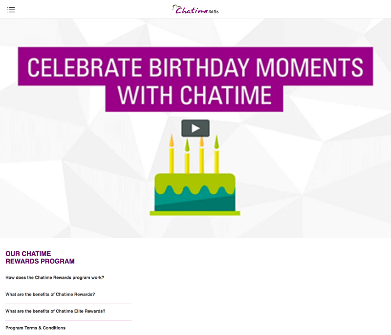 chatime rewards first search