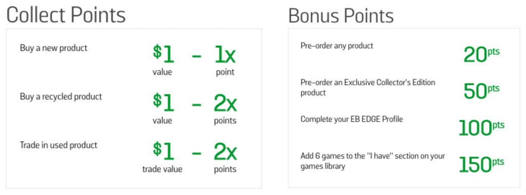 edge rewards collect points