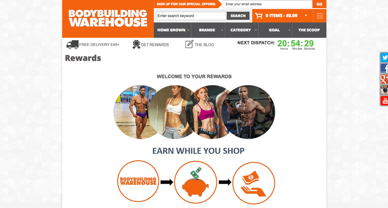supplements loyalty program example bodybuilding warehouse