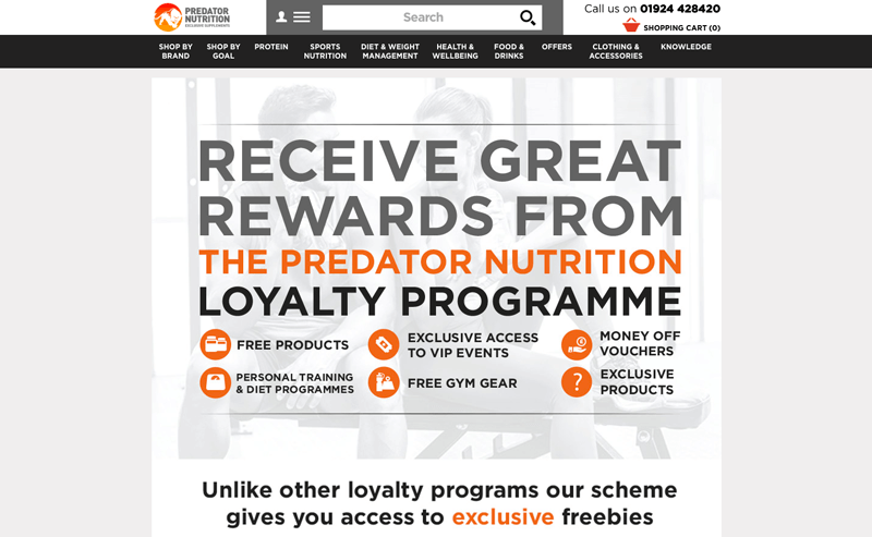 supplements loyalty program example predator nutrition home