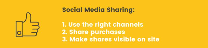 social proof media sharing