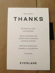 convert visitors into buyers everlane thanks