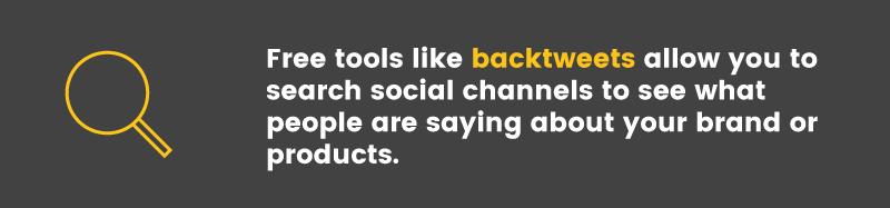 brand advocates backtweets