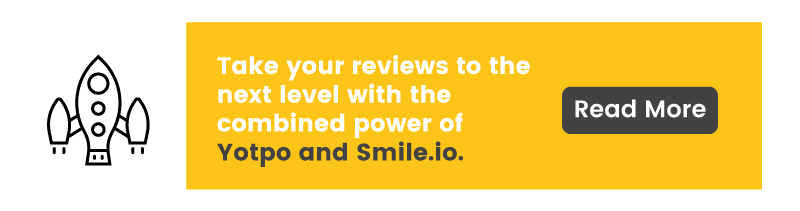 customer reviews for ecommerce yotpo integration CTA