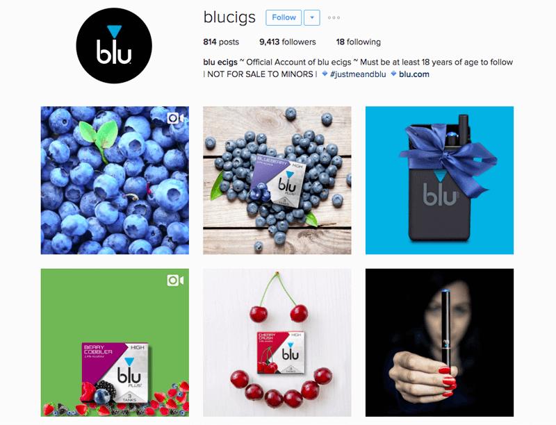 ecig loyalty program examples blu instagram
