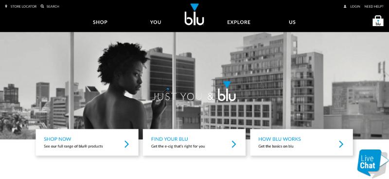 ecig loyalty program examples blu homepage