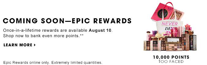 extra points event Sephora epic rewards