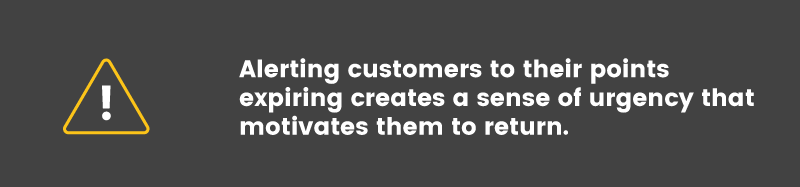 customer engagement expiring points