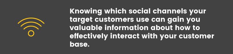 social media is ineffective target channels