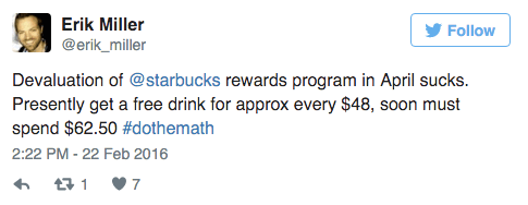 starbucks new loyalty program tweet 2