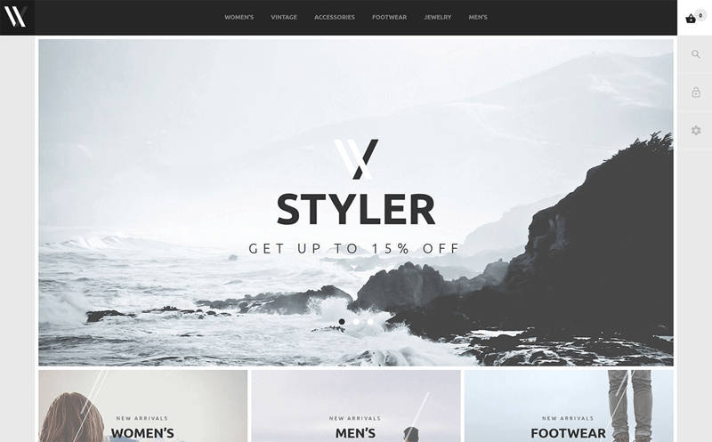 ecommerce homepage styler