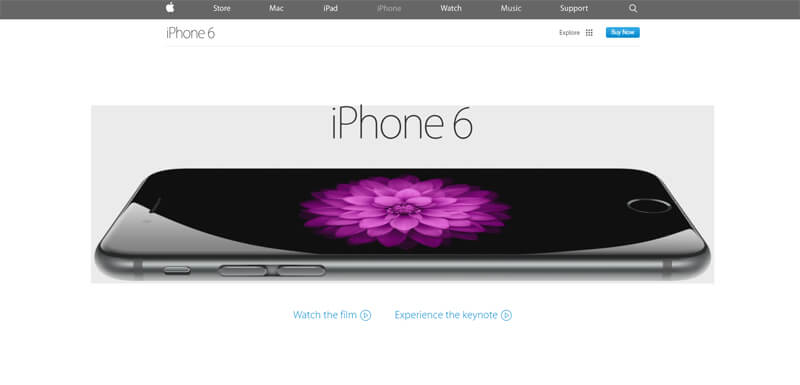 ecommerce homepage iphone 6