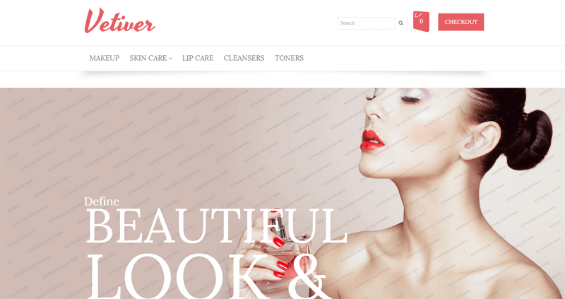 ecommerce homepage vetiver
