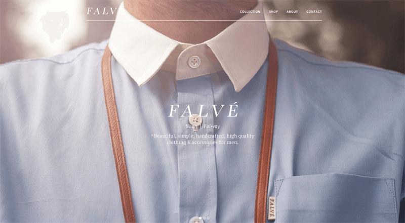 ecommerce homepage falve