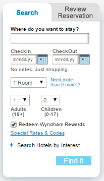 wyndham rewards find a hotel